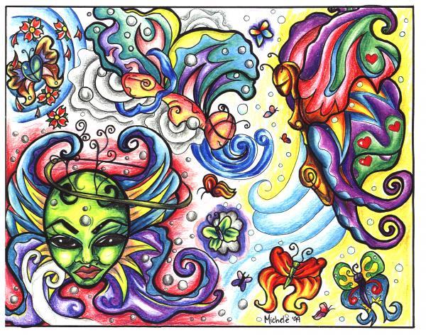 Design Of Magick Tattoo 15, Fantasy Tattoo Designs