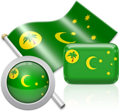 Cocos Island  flag icons pictures collection