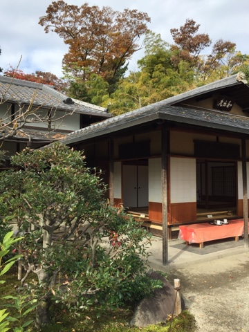 Little teahouse on the grounds of Nijo Castle in Kyoto is a great stop for a warming cup of coffee or some Japanese sweets while looking out at a beautiful garden