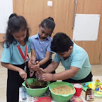 Cookie making activity done by Grade I, Witty World , Chikoowadi (2017-18)