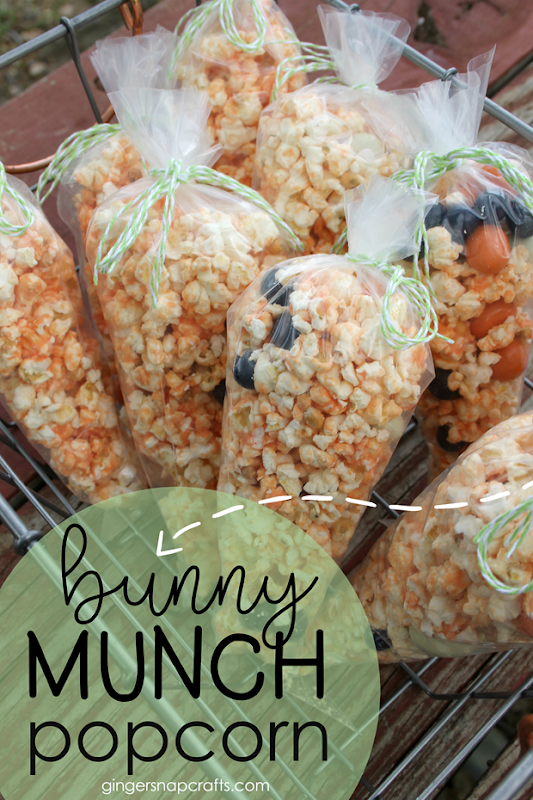 Bunny Munch Popcorn at GingerSnapCrafts.com #popcorn #recipes