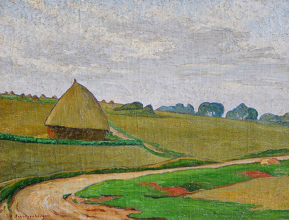 René Schützenberger - Landscape with a Haystack