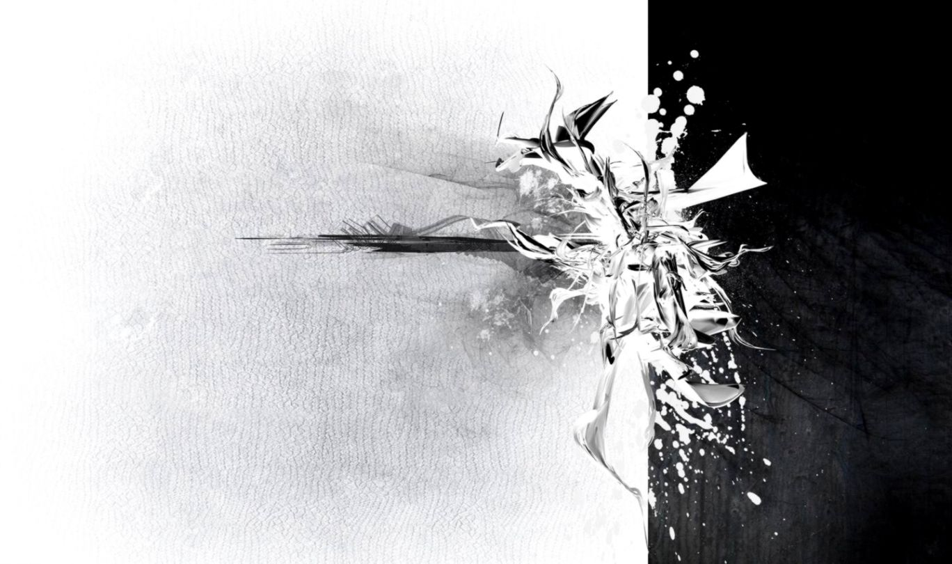 Abstract Painting Black And White Wallpaper