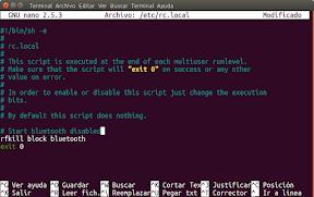 Deshabilitar el bluetooth automáticamente en Ubuntu - para todos los usuarios