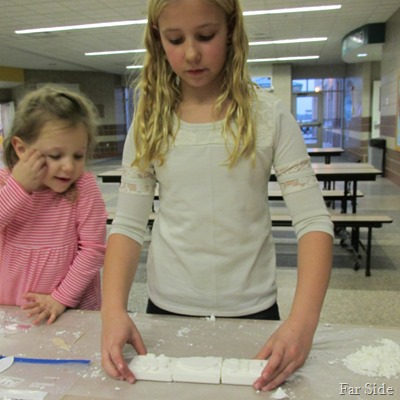 Olivia and Ava soap carving