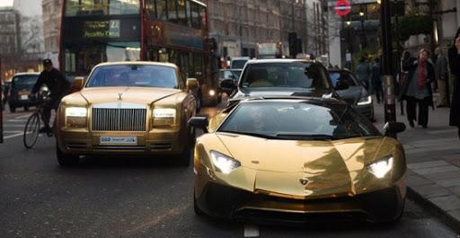 Đại gia Ả Rập mang đoàn siêu xe dát vàng đại náo London
