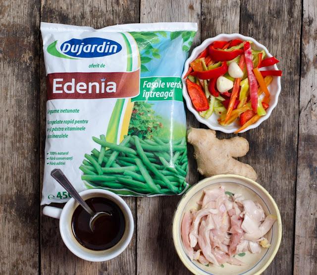 Ingrediente pui cu fasole verde Edenia