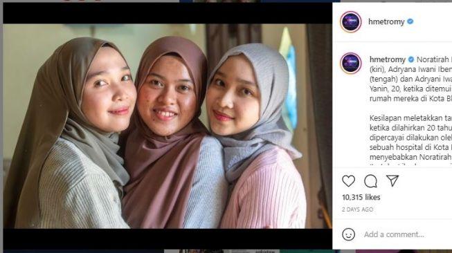 Terpisah 19 Tahun, Gadis Ini Akhirnya Bertemu dengan Kembaran yang Asli