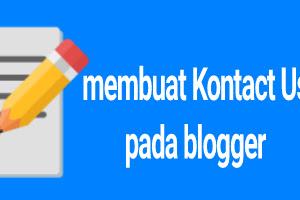 Cara membuat halaman kontak pada blogger