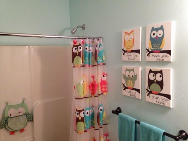 Owl trageously cute kids bathroom thrifty artsy girl for Kids bathroom ideas girls