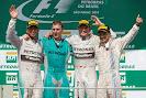2014 Brazil F1 podium: 1. Rosberg 2. Hamilton 3. Massa