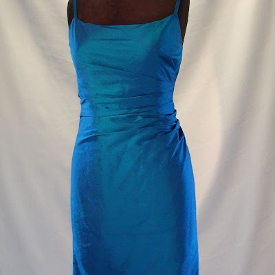 Side- Pleated Dress - Dupion Silk