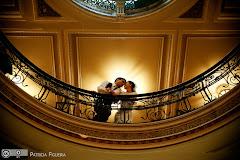 Foto do casamento de Fernanda e Ramon. Confeitaria Colombo, Rio de Janeiro, RJ.