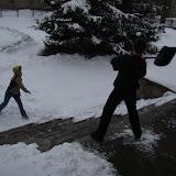 Bitwa na śnieżki i łopatę;)