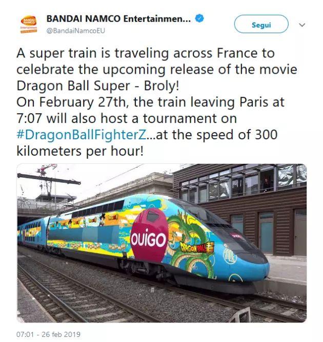Bandai Namco organizzerà un torneo Dragon Ball FighterZ su un treno!