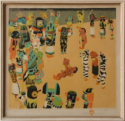 """Hopi Katzinas"" Framed"