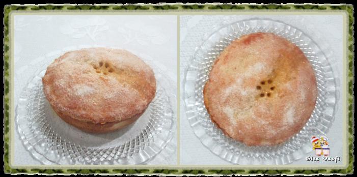 Torta de maçã com guaraná e pudim de baunilha 2