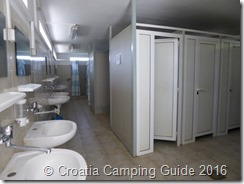 Croatia Camping Guide - Camp Kozica Toilets