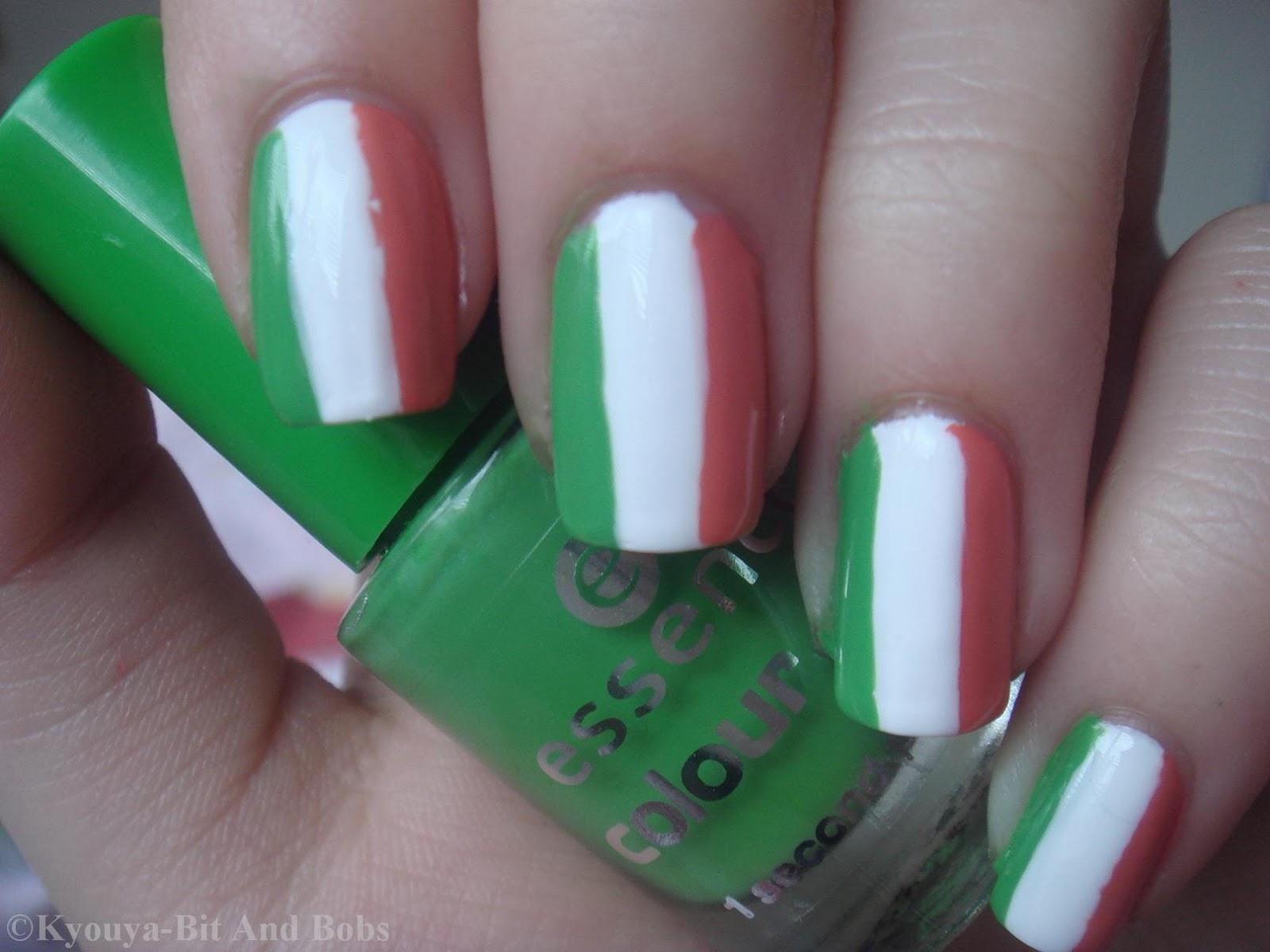 Happy Paddy\'s Day!! Flag Nail Art...