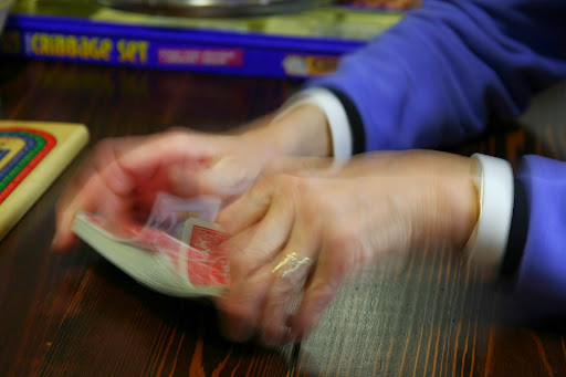 shuffling cards like a pro