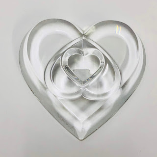 Baccarat Triple Heart Paperweight