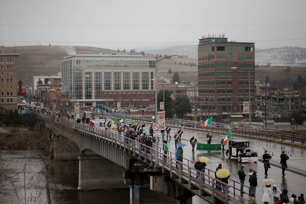 The 32nd Annual St. Patrick's Day Parade crosses Higgins Street Bridge, Missoula, Mont., March 17th, 2012