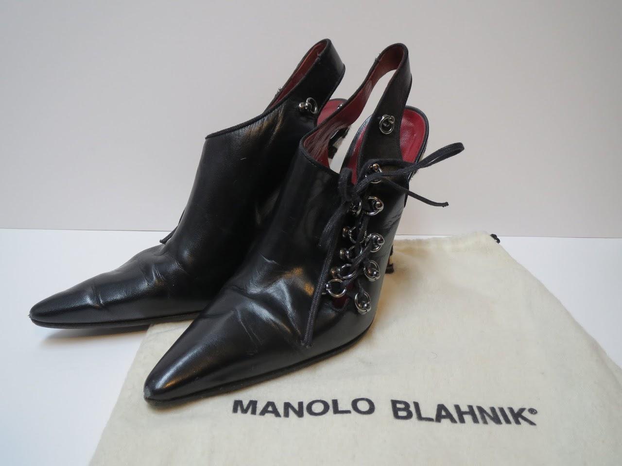 Manolo Blahnik Bondage Stilettos