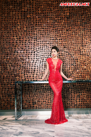 Hoa hậu Hải Dương lộng lẫy với đầm dạ hội