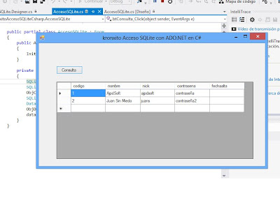 Desarrollar aplicación Visual C# .Net con acceso a SQLite con ADO.NET