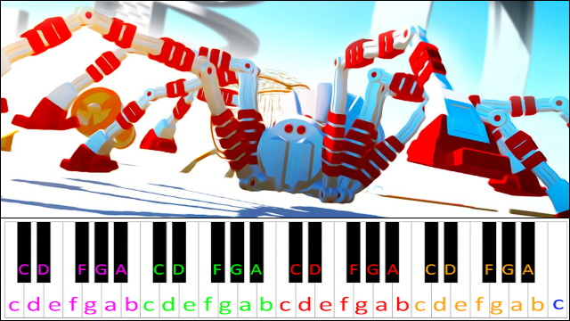 The Giant Enemy Spider Piano Letter Notes Bwaam ba do do do dood ppck dodo do, bwam bawm, bwam bwam bwaa. the giant enemy spider piano letter notes