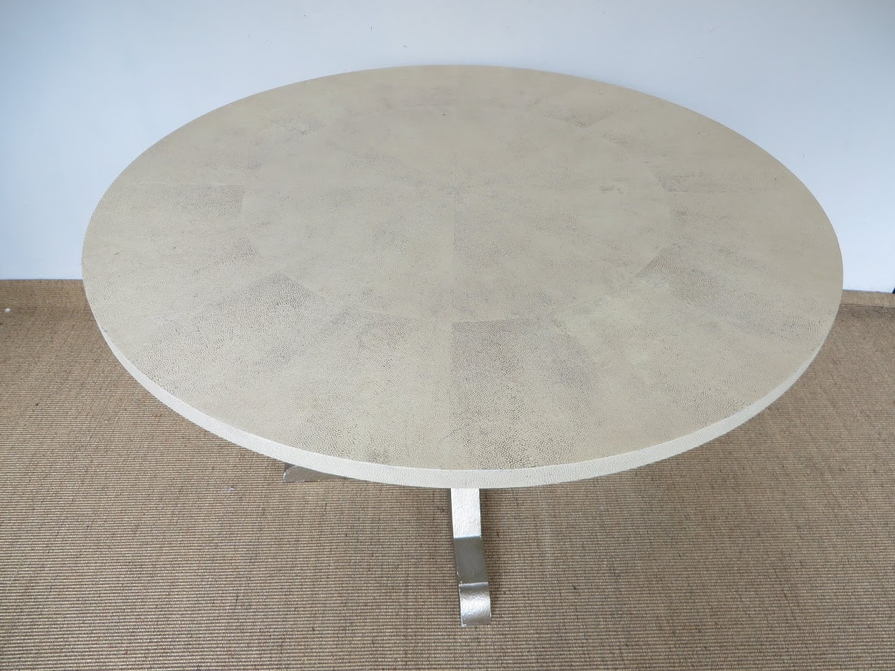 Faux Shagreen Top Table