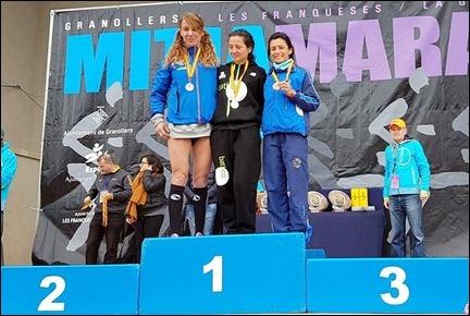 Podium Campeonato de España de Media Maraton 2017 (Granollers)