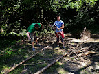Zpracovávání dřeva.
