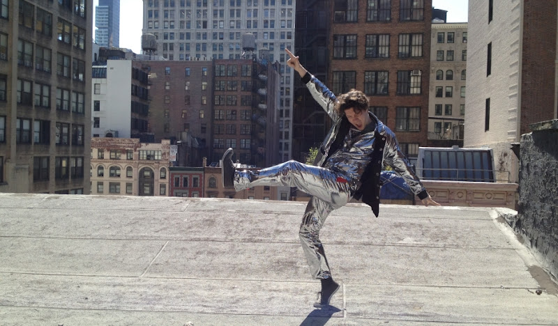 Disco Outfit atop Rooftop