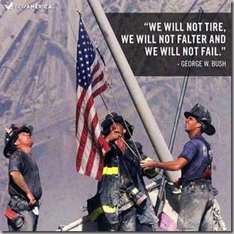 9-11 flag with quote