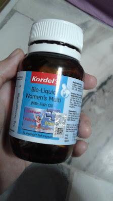 period lewat,sebab period lambat,Kordel Bio Liquid Women's Multi with Fish Oil