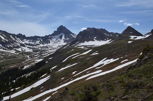 Wetterhorn Peak above the basin