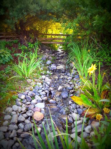 Trickling brook. More than A Garden: Curious Llamas, Tiny Houses, and Teapot Trees at Kingsbrae Garden