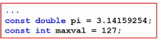 Ví dụ về hằng trong C - tinhoccoban.net