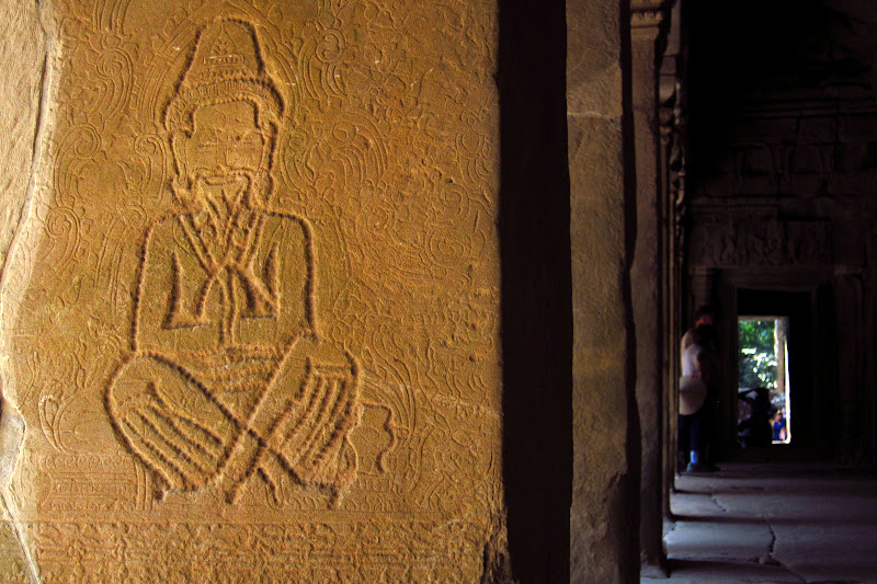 Buddha-turned-hermit at Ta Prohm