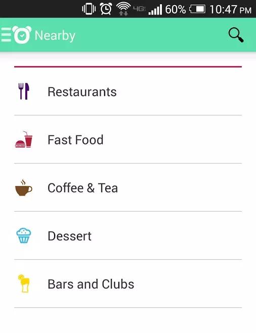 photo of the tomi app menu