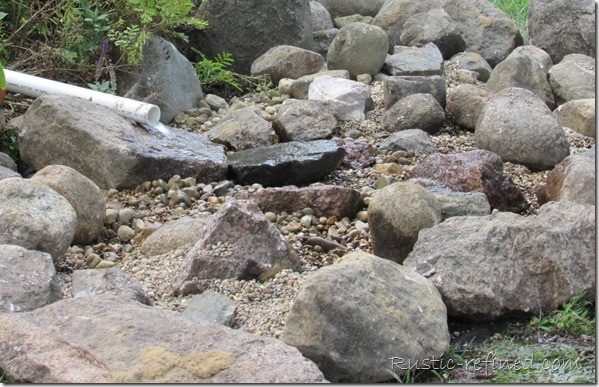 River Rock Creek Bed to help dispel water erosion