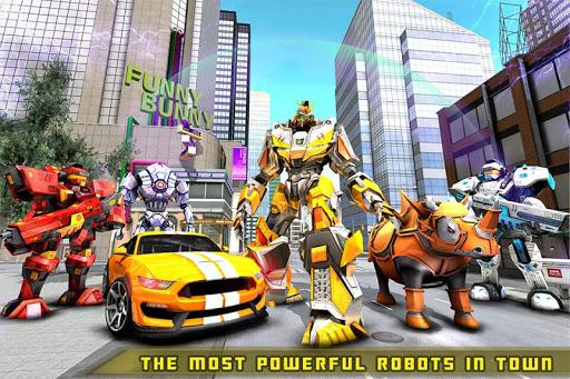Rhino Robot Car transforming games u2013 City battle filehippodl screenshot 6