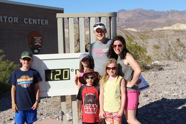 It was 120deg while we were at the visitors center