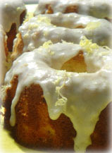 Lavender Pound Cake with Lemon Glaze