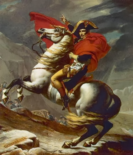 Jacques-Louis David (1748-1825), Napoleon Crossing the Alps, 1800, oil on canvas.