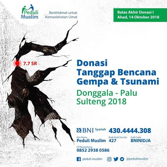 Donasi Tanggap Bencana Gempa & Tsunami Donggala-Palu Sulawesi Tengah