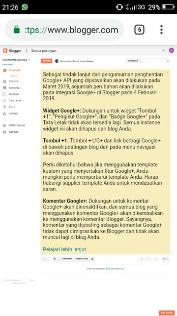 Hasan Askari: Tutorial Blogger Lengkap Menggunakan HP - #4 Mendaftar dan Membuat Blog - gambar 9