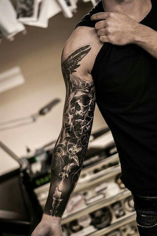 intrincados_crnio_fumaça_manga_tatuagem