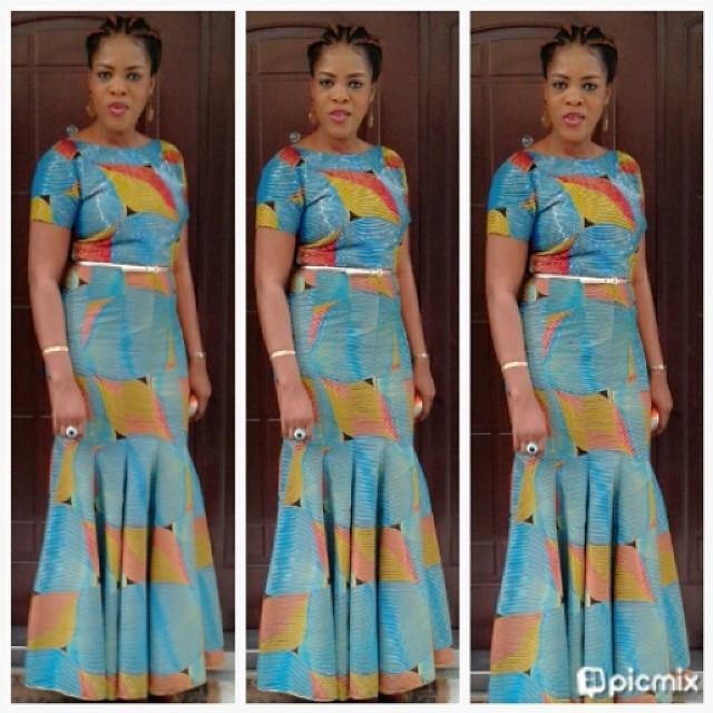 Stylish ankara Long Gown dresses styles #2017 - Fashion 2D